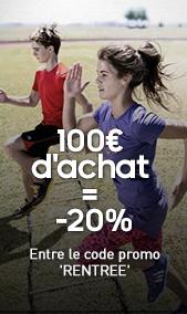 -20% de réduction dès 100€ d'achat
