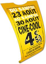 Place de cinéma (sauf cinémas Kinépolis)