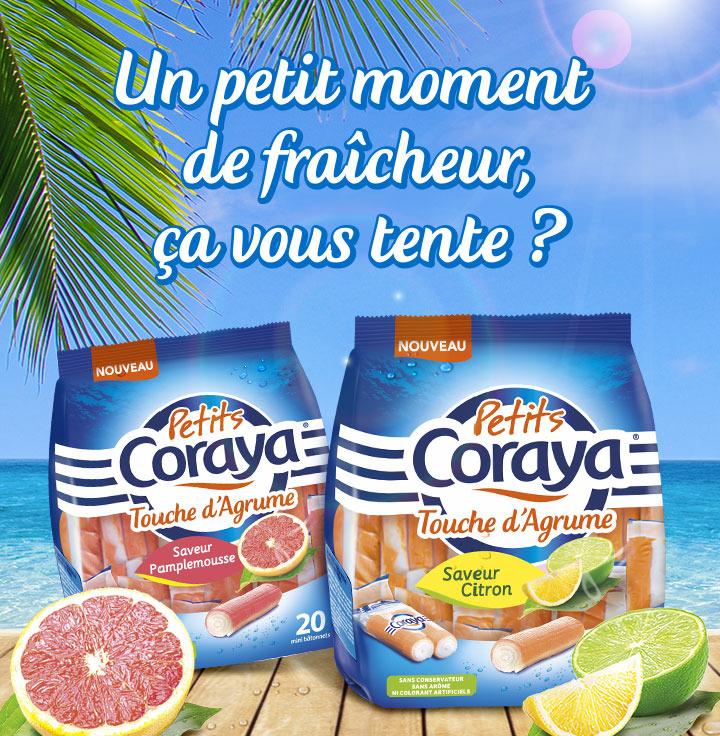 Petits Coraya Touche d'Agrumes 190g  - Saveur citron ou pamplemousse (via Shopmium)