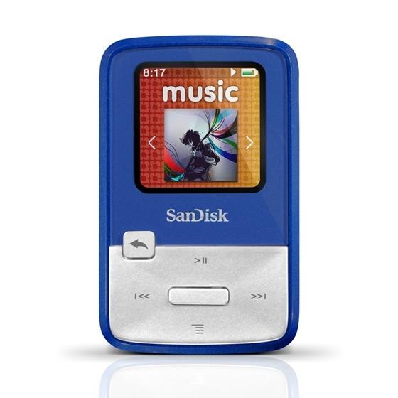 Lecteur MP3 4Go Sansa Clip Zip de SanDisk Avec radio FM - Bleu ou Rouge