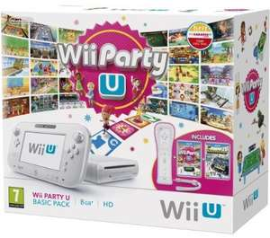 Console Nintendo Wii U 8 Go Blanche Party Pack (Avec Wiimote + Wii Party + Nintendo Land)