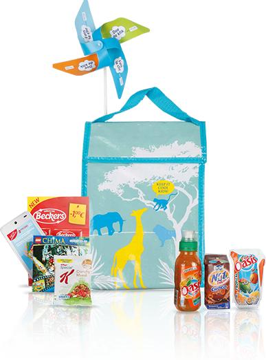 Goodybag gratuit (sac thermique avec boissons, petite boîte de Lego...)