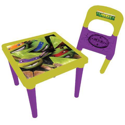 Chaise et table d'activités Darpèje Tortues Ninja + Set créatifs (35pcs)