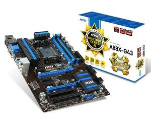 Carte mère MSI A88X-G43 - Socket FM2+ - Chipset AMD A88X - ATX -