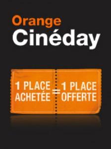 Cinéday tous les mardis, tous les clients Orange peuvent inviter la personne de leur choix au cinéma