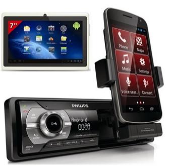 "Pack Autoradio Philips CMD305 + Tablette 7"" MID77W"