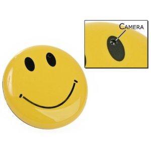 Visionaer ® SPY caméra espion cachée dans un badge Smiley