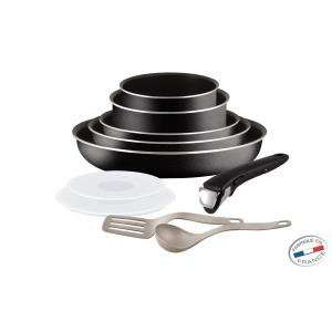 Batterie de cuisine 10 Pièces Tefal Ingenio5 noir