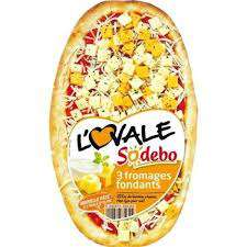 Lot de 2 pizzas Sodebo ovales 3 fromages fondants