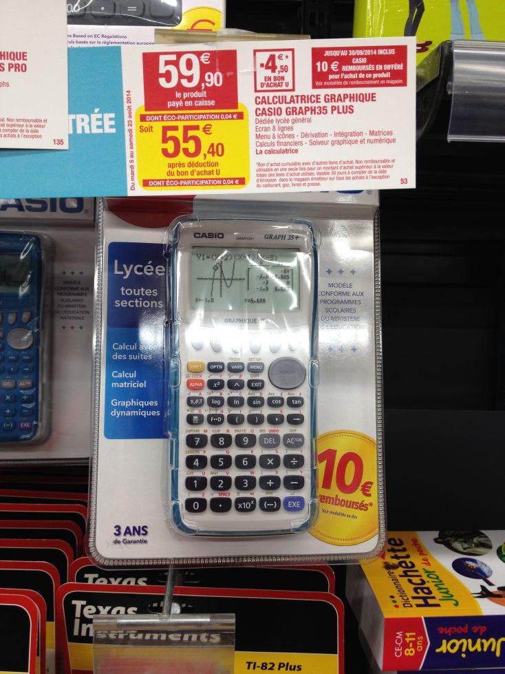 Calculatrice Casio Graph35+(Avec ODR de 10€)