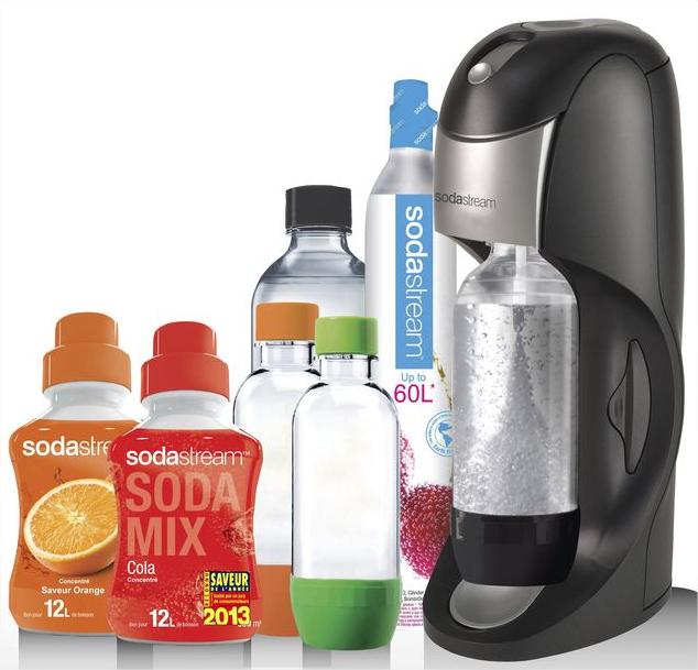 Machine à gazéifier Sodastream + 2 sirops + 4 bouteilles