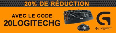 -20% de réduction sur une sélection de 3 produits Logitech (G602, G710+ et G105)