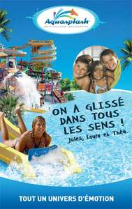 -40% sur le billet Adulte et Enfant Aquasplash (Antibes) : Adulte à 16.2€, Enfant