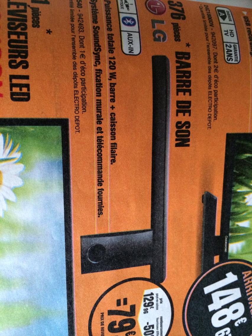Barre de son LG NB2540 (avec ODR 50€)