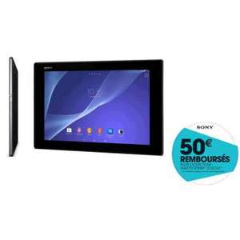 """[Adhérents] Tablette Sony Xperia Z2 10,1"""" Noir/blanc - 16 Go à 327,41€ (Avec ODR de 100€) et 32Go (Avec ODR de 50€)"""