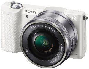 Appareil photo hybride Sony A5000 + Objectif 16-50mm - Blanc