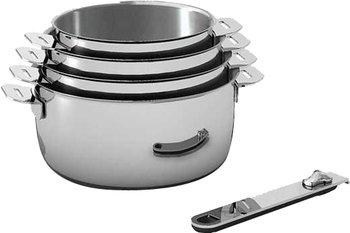 Set de 4 casseroles en inox Beka Move On 14 à 20 cm tous feux dont induction