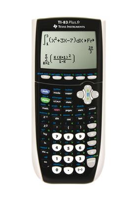 Calculatrice graphique Texas Instruments TI 83 plus (avec ODR 10€)