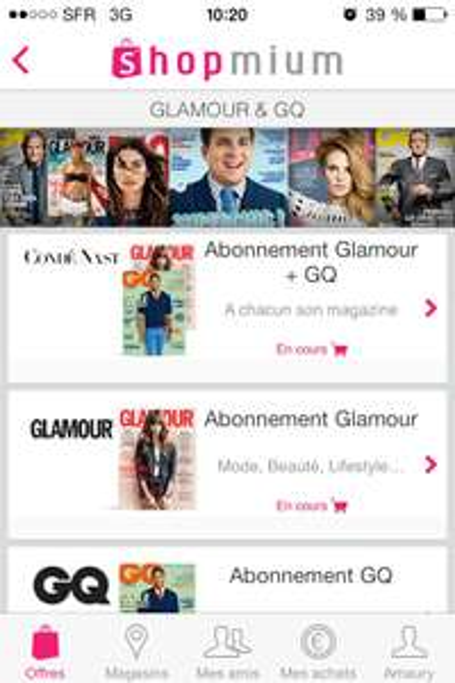 3 offres Glamour & GQ via Shopmium - Ex: 1 an à GQ + Glamour (24 numéros)