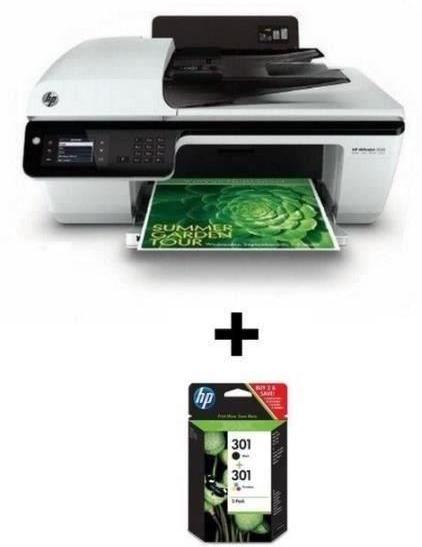 Imprimante HP Officejet 2622 + Pack de cartouche N/M/J/C n°301 (avec ODR de 20€)