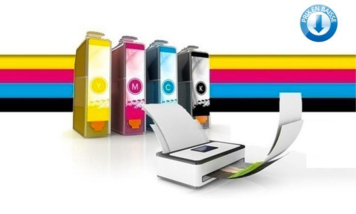 Cartouches encre compatibles imprimante Brother, Canon, Epson, HP - Ex : Pack de 6 Cartouches d'Encre Canon PGI-520 / CLI-521