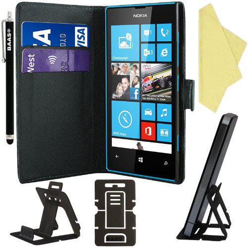 Etui noir - housse pour Nokia 520 + 3 films de protection + stylet