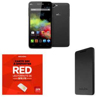 Smartphone Wiko Rainbow + Etui Folio Wiko + Pack SFR RED (Avec ODR de 50€)