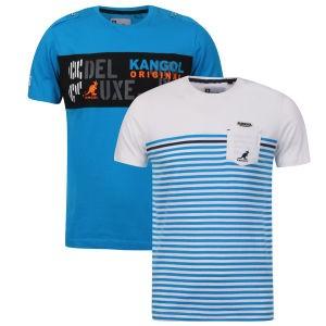 2 tee shirt KANGOL pour homme