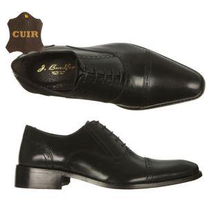Chaussures en cuir richelieu J. Bradford Glum