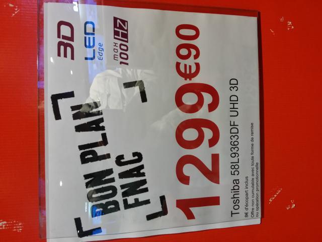 """Téléviseur 58"""" Toshiba 58L9363DF 4K 3D"""