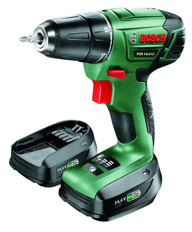 """Bosch Perceuse visseuse """"Universal"""" sans fil PSR 14,4 LI avec coffret, 2 batteries et chargeur"""