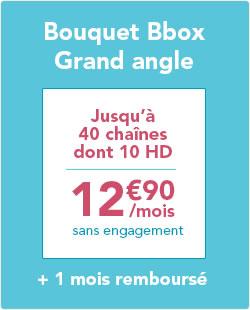 [Client Bbox & Ideo] Bouquet Grand Angle (40 chaînes) ou/et Bbox Ciné gratuit pendant 1 mois (puis 12,9€ par mois)