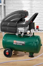 Compresseur Parkside 24L et divers outillages pneumatiques