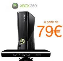 Pack Xbox 360 4Go + Kinect (pour toute souscription à une offre internet - 12 mois minimum)