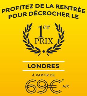 Eurostar : Billets A/R Paris, Lille ou Calais => Londres