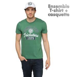 Tshirt blanc ou vert + casquette Complices (Taille S, M, L)