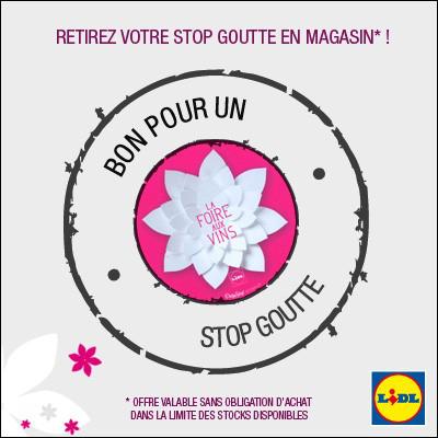 Stop Goutte offert à l'occasion de la foire aux vins
