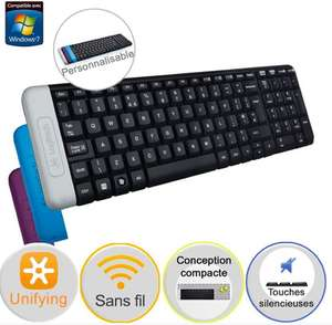 Clavier sans-fil Logitech Wireless Keyboard K230