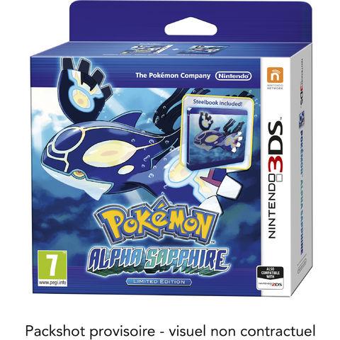 Jeu Nintendo 3DS Pokémon Rubis Oméga / Saphir Alpha Edition Limitée avec steelbook et porte-clefs