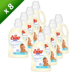 Lot de 8x1,5L de lessive liquide Le Chat