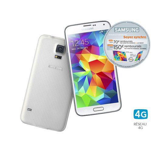 Smartphone Samsung Galaxy S5 16 Go Blanc ou Or (Avec ODR de 70€)