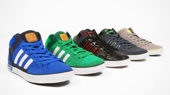 Baskets montantes Adidas en cuir ou cuir nubuck/textile