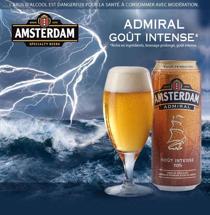 Bière Amsterdam Admiral - 2 boîtes de 50cl
