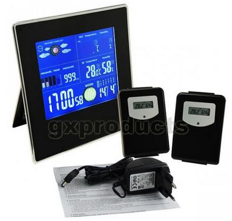 Station météo + 2 capteurs + horloge + calendriers + baromètre...