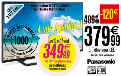 """Téléviseur 42"""" Panasonic TX-42A400E"""