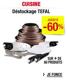 Jusqu'à 60% de réduction sur plus de 60 articles Tefal