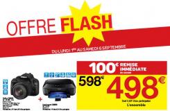 Pack Reflex Canon E0S 100D +18-55 + Imprimante Canon (100€ de remise immédiate en caisse)