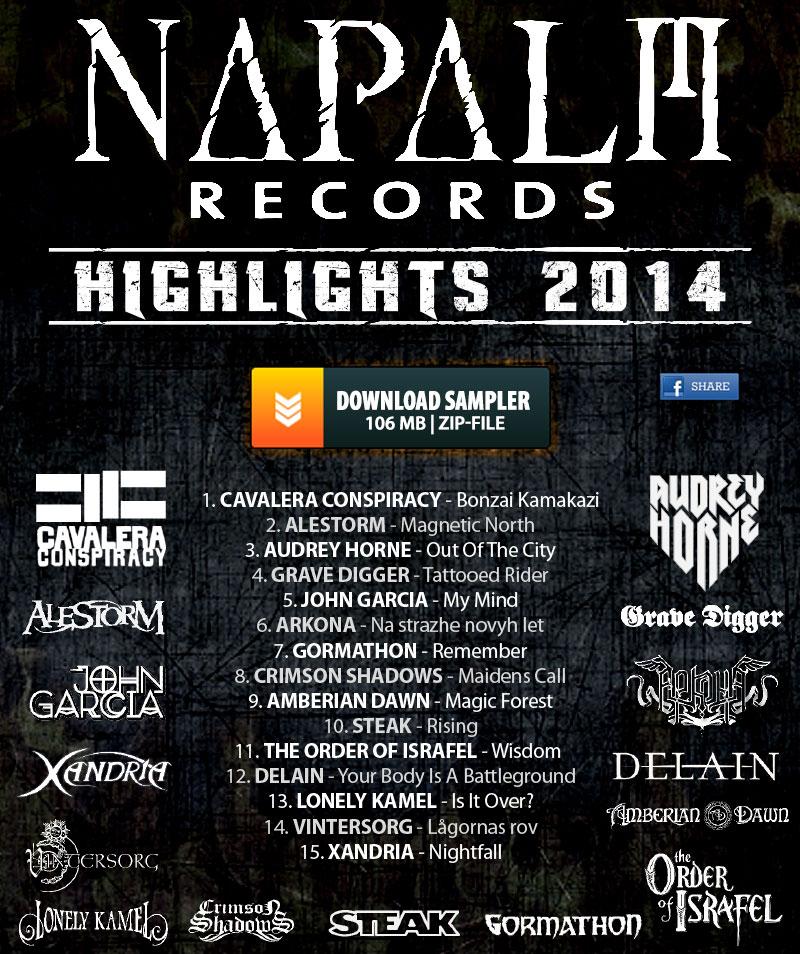 Sampler de 15 titres de Napalm Records Gratuit