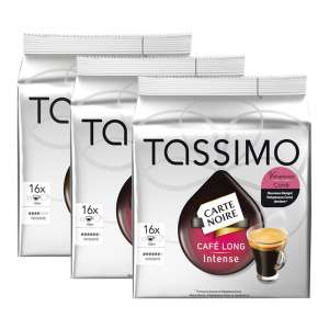 3 paquets de Dosettes Café Tassimo Carte Noire divers parfum