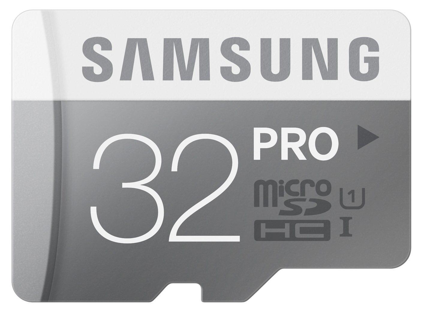 Carte Mémoire Samsung 32Go Pro MicroSDHC UHS-I Grade 1 Classe 10